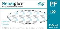 SensiGluv Premium Powder-Free Latex Exam Gloves - Textured (MLE100)