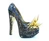 GOLD CRACKLE PUMPS
