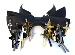 BLACK SATIN CROSSES