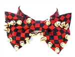 RED & BLACK CHECKERED BOWTIE