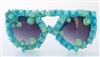 TURQUOISE JUNGLE GLASSES