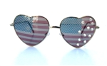 AMERICAN WOMAN  HEART SHAPE GLASSES