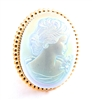 IMPERIAL OPAL GLASS LADY CAMEO RING