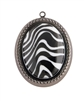 BLACK WHITE  ZEBRA NECKLACE