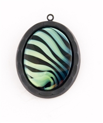 PURPLE GREEN ZEBRA NECKLACE