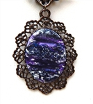 BLUE PURPLE SWIRL NECKLACE