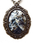 BLUE DENDITE NECKLACE