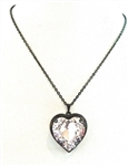 HEART THROB PINK WHISPER HEART NECKLACE
