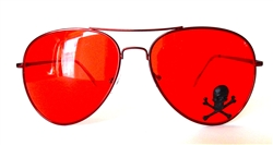 RED LENS / RED FRAME AVIATORS