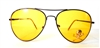 YELLOW LENS / GUN METAL FRAME AVIATORS