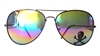 RAINBOW LENS / BLACK FRAME AVIATORS