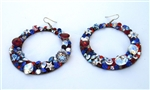 AMERICAN WOMAN EARRINGS - HOOP