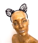 CONFESSION CROSS BLACK LACE KITTY EARS