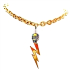 DEVILS ARROW SAGELEAF SKULL & LIGHTENING BOLT NECKLACE
