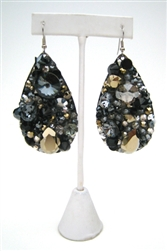 BLACK CAVIAR EARRINGS - DROP