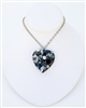 BLACK CAVIAR HEART NECKLACE SMALL