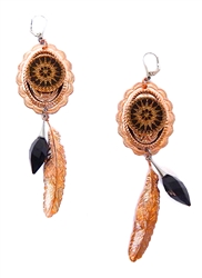 PONDEROSA HIGH NOON CONCHO EARRINGS