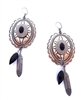 PONDEROSA A FISTFUL OF DOLLARS CONCHO EARRINGS