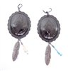 PONDEROSA APPALOOSA CONCHO EARRINGS