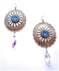 PONDEROSA KID BLUE CONCHO EARRINGS
