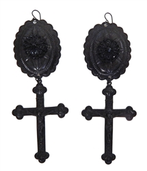 PONDEROSA UNFORGIVEN CONCHO EARRINGS