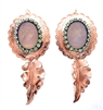 PONDEROSA SPANISH LAVENDER CAMEO CONCHO EARRINGS