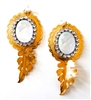 PONDEROSA MOONDUST CAMEO CONCHO EARRINGS