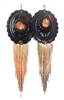 PONDEROSA LONE STAR CONCHO FRINGE EARRINGS