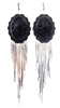 PONDEROSA UNFORGIVEN CONCHO FRINGE EARRINGS