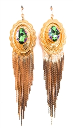 PONDEROSA QUICK & THE DEAD CONCHO FRINGE EARRINGS