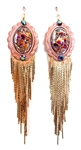 PONDEROSA ARIZONA COLT CONCHO FRINGE EARRINGS
