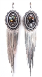 PONDEROSA COWBOYS OF CALICO CONCHO FRINGE EARRINGS