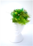 GREEN FEATHER VINTAGE EYE PATCH