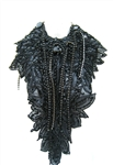 BLACK CAVIAR LACE DRIP NECKLACE