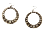 DIRTY STUDDED HOOP EARRINGS</li>