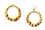 GOLD STUDDED HOOP EARRINGS</li>
