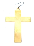 GOLD FLAT CROSS EARRING