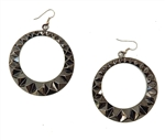 GUN METAL STUDDED HOOP EARRINGS</li>