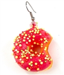 SWEET 16 PINK DOTS DONUT EARRING