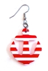 HEY SAILOR UNION STRIPED ANCHOR EARRING