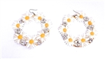 SWAN RIVER DAISY HOOP EARRINGS