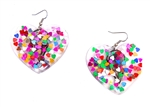 CRAZY CUPID CONFETTI HEART EARRINGS