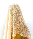 ANN GOLD LACE VEIL