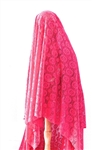 SHIRLEY FUCHSIA CROCHET MEDALLION LACE VEIL