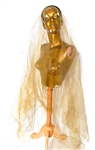 JONI DIRTY GOLD NETTING TULLE VEIL