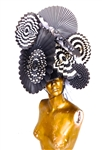 BLACK AND WHITE GARDEN PARTY HAT