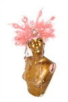 PINK PEPPERCORN FEATHER HEAD PIECE