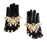 BUTTERFLY KNIFE VINYL HALF GLOVES