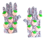 PINK STRAWBERRY SHORTIE GLOVES