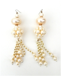 PEARL BAUBLE TASSEL EARRINGS